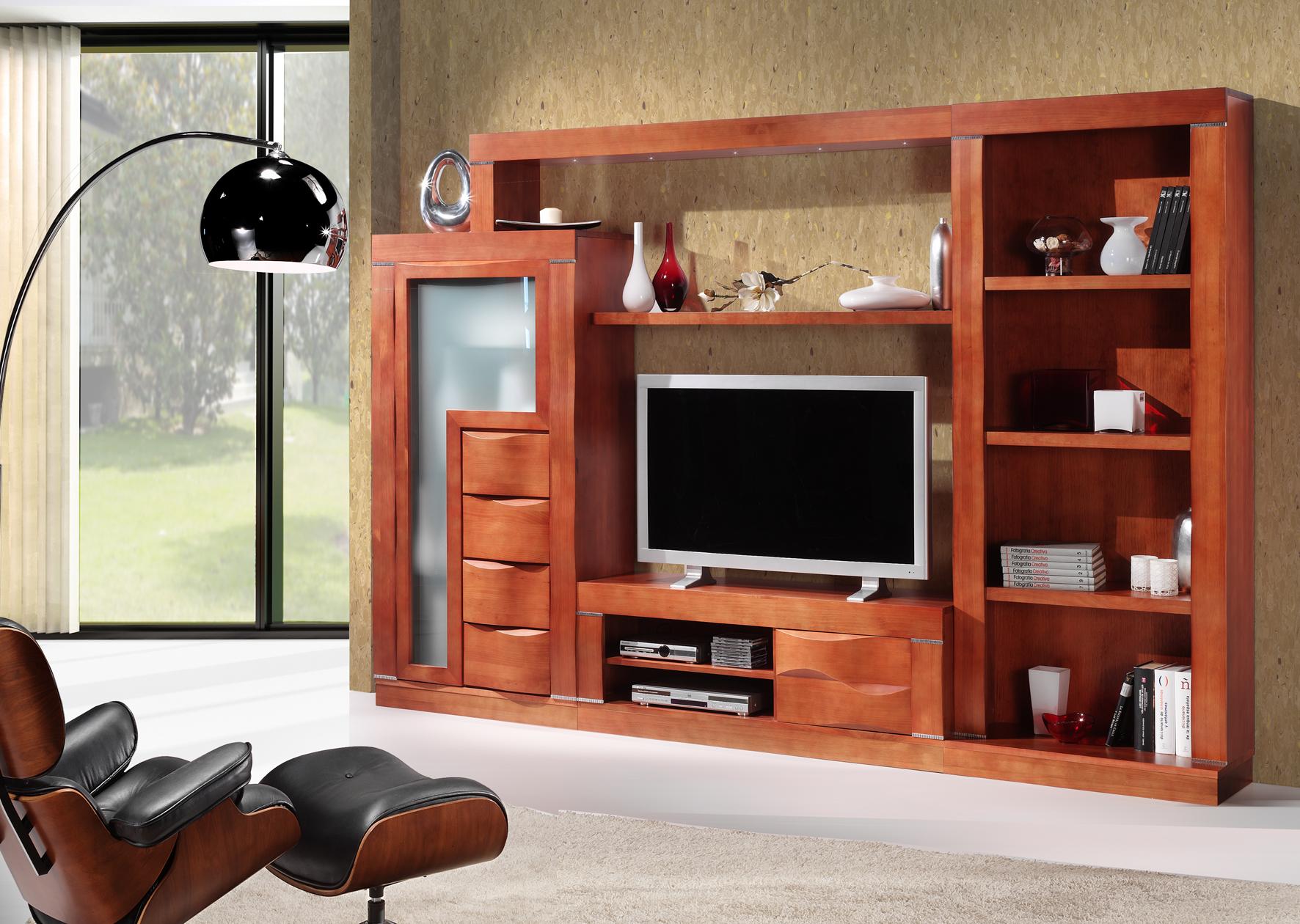 Muebles de madera maciza muebles madera natural mesa for Muebles salon madera maciza