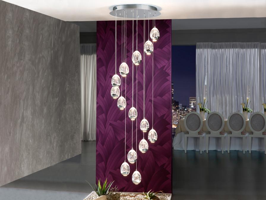 Lámpara vertical que simulan gotas